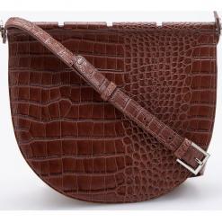 Torebka z teksturą krokodyla - Brązowy. Brązowe torebki klasyczne damskie Reserved. Za 299,99 zł.