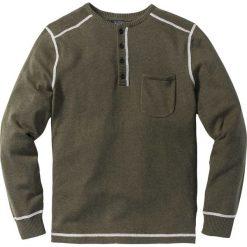 Swetry męskie: Sweter Regular Fit bonprix ciemnooliwkowy melanż