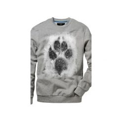 Bluza UNDERWORLD casual Łapa. Szare bluzy męskie rozpinane marki Underworld, m, z nadrukiem, z bawełny. Za 119,99 zł.
