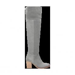Kozaki damskie. Szare buty zimowe damskie Wojas. Za 479,20 zł.