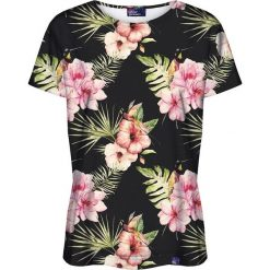 Colour Pleasure Koszulka damska CP-030 159 czarno-różowa r. XXXL/XXXXL. Czarne bluzki damskie marki Colour pleasure. Za 70,35 zł.