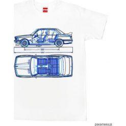 Koszulka BMW 3 tshirt. Białe t-shirty męskie z nadrukiem Pakamera, m. Za 77,00 zł.