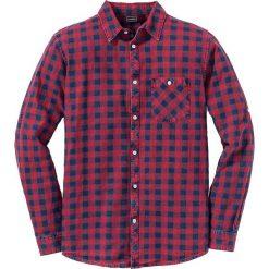 Koszule męskie na spinki: Koszula z długim rękawem Slim Fit bonprix ciemnoczerwony w kratę