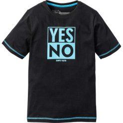 Odzież chłopięca: Shirt z nadrukiem i kontrastowymi szwami bonprix czarny