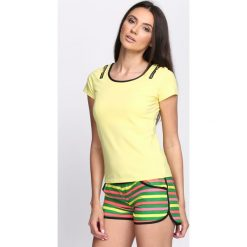 Bluzki, topy, tuniki: Żółty T-shirt Summertime Trip