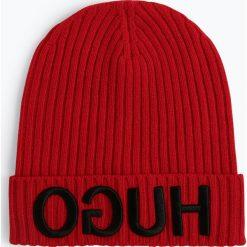 HUGO - Czapka – Unisex-X537, czerwony. Czerwone czapki damskie HUGO, z napisami. Za 269,95 zł.