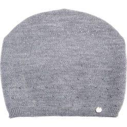Czapki damskie: Szara czapka z dżetami QUIOSQUE
