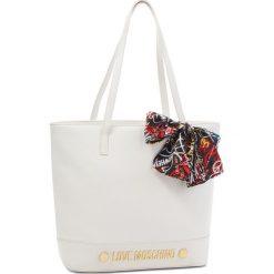 Torebka LOVE MOSCHINO - JC4125PP16LV0100 Bianco. Białe torebki klasyczne damskie Love Moschino, ze skóry ekologicznej. W wyprzedaży za 639,00 zł.
