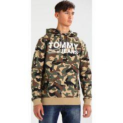 Tommy Jeans Bluza z kapturem camo print. Brązowe bluzy męskie rozpinane Tommy Jeans, m, z bawełny, z kapturem. W wyprzedaży za 356,30 zł.