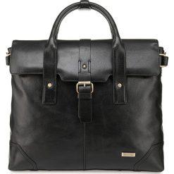 Torba na laptopa 85-3U-511-1. Czarne torby na laptopa Wittchen, w paski. Za 779,00 zł.