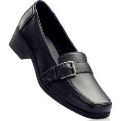 Półbuty wsuwane bonprix czarny. Czarne półbuty damskie wsuwane marki bonprix, eleganckie. Za 69,99 zł.
