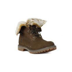 Kozaki i kalosze  Timberland  FAUX CATEEN. Brązowe buty zimowe damskie marki Timberland. Za 831,73 zł.