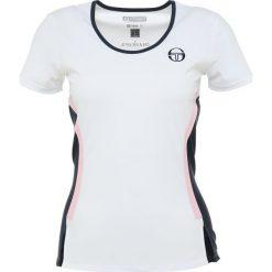 T-shirty damskie: sergio tacchini CURVATURE  Tshirt z nadrukiem white/dark navy