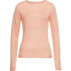 Swetry klasyczne damskie: Sweter z połyskiem bonprix pudrowy beż