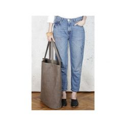 Mega Shopper bag brązowa torba oversize Vegan. Brązowe shopper bag damskie Hairoo, w paski. Za 185,00 zł.