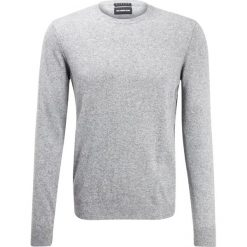 Swetry klasyczne męskie: Sisley Sweter light grey melange