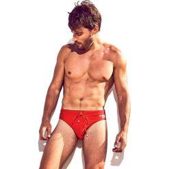 Kąpielówki DAVID 52 Basic Slip Red. Niebieskie kąpielówki męskie marki Astratex, z bawełny. Za 96,99 zł.