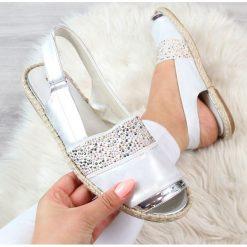 Rzymianki damskie: Sandały damskie espadryle srebrne Jezzi
