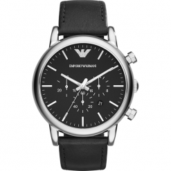 Zegarek EMPORIO ARMANI - Luigi AR1828 Black/Silver/Steel. Czarne zegarki męskie Emporio Armani. Za 1059,00 zł.