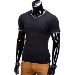 T-shirty męskie: T-SHIRT MĘSKI BEZ NADRUKU S678 – CZARNY