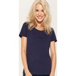 T-shirt basic - Granatowy. Niebieskie t-shirty damskie House, l. Za 19,99 zł.