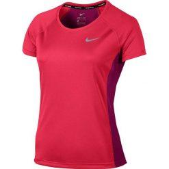 Topy sportowe damskie: Nike Koszulka damska Dry Miler Top Crew różowa r. XS (831530 617)