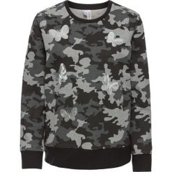Bluzy rozpinane damskie: Bluza z cekinami bonprix czarny moro