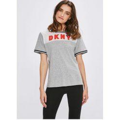 Dkny - Top piżamowy. Szare piżamy damskie DKNY, l, z bawełny, z krótkim rękawem. W wyprzedaży za 159,90 zł.