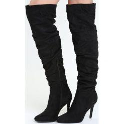 Czarne Kozaki Figment. Czarne buty zimowe damskie marki Born2be, na wysokim obcasie, na szpilce. Za 169,99 zł.