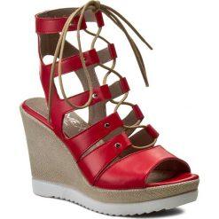 Rzymianki damskie: Sandały ANN MEX – 7201 14S Czerwony
