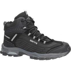 Czarne buty trekkingowe sznurowane softshell Casu A1527-1. Czarne buty trekkingowe męskie Casu, z softshellu, na sznurówki. Za 99,99 zł.