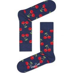 Happy Socks - Skarpetki. Szare skarpetki damskie Happy Socks, z bawełny. W wyprzedaży za 29,90 zł.