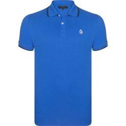 """Koszulki polo: Koszulka polo """"Power"""" w kolorze niebieskim"""
