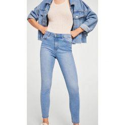 Mango - Jeansy Noa. Niebieskie jeansy damskie rurki Mango, z bawełny. Za 119,90 zł.