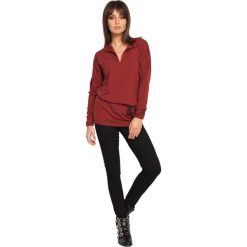 CHARITY Tunika z wiązaniem - bordowa. Czerwone tuniki damskie BE, na co dzień, l, z jeansu. Za 136,99 zł.