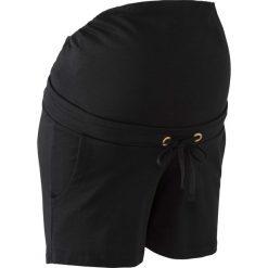 Wygodne szorty ciążowe z gumką bonprix czarny. Niebieskie spodnie ciążowe marki bonprix, w paski, z dżerseju. Za 69,99 zł.