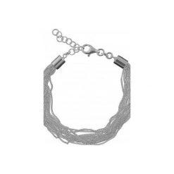Bransoletki damskie: Srebrna bransoletka z łańcuszkami