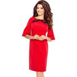 Sukienki: LISA klasyczna i wygodna sukienka CZERWONY