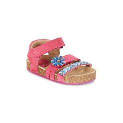 Sandały Dziecko  Kickers  NANZOUK. Niebieskie sandały dziewczęce marki Kickers, z kauczuku, na sznurówki. Za 207,20 zł.