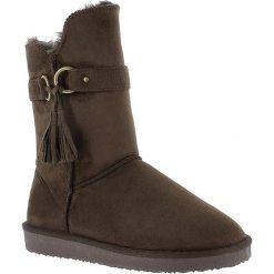 """Buty zimowe damskie: Kozaki """"Creede"""" w kolorze ciemnobrązowym"""