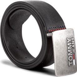 Pasek Męski TOMMY JEANS - Tjm Plaque Belt 4.0 AM0AM03290 002. Czarne paski męskie Tommy Jeans, w paski, z jeansu. W wyprzedaży za 199,00 zł.