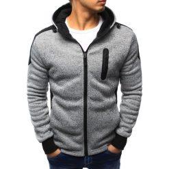 Bluzy męskie: Bluza męska rozpinana szara z kapturem (bx3152)