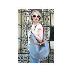 Workowata torebka na ramię kolorowa granat Hobo. Czarne shopper bag damskie Karolina audycka, z haftami, z materiału, na ramię, z haftem. Za 169,00 zł.