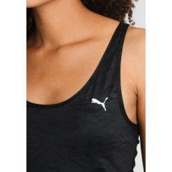 Puma ALL EYES ON ME  Koszulka sportowa black/oxidized. Czarne topy sportowe damskie marki Puma, xl, z elastanu. W wyprzedaży za 151,20 zł.