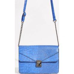 Torebka z fakturą - Niebieski. Niebieskie torebki klasyczne damskie Sinsay. Za 59,99 zł.