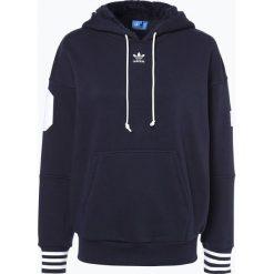 Adidas Originals - Damska bluza nierozpinana, niebieski. Niebieskie bluzy sportowe damskie adidas Originals, m, w prążki, z kapturem. Za 379,95 zł.