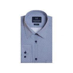 Koszula 1911 6. Niebieskie koszule męskie marki bonprix, m, z nadrukiem, z klasycznym kołnierzykiem, z długim rękawem. Za 149,99 zł.