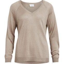 Swetry damskie: Sweter z dekoltem w serek, gruba dzianina