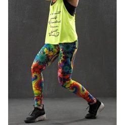 Spodnie dresowe damskie: Feeljoy Spodnie damskie FeelJ! Surreal Long zielono-żółte r. M (288)
