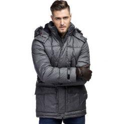 Kurtka EDGARDO KUPS000101. Niebieskie kurtki męskie pikowane marki Giacomo Conti, m, z tkaniny, klasyczne. Za 599,00 zł.